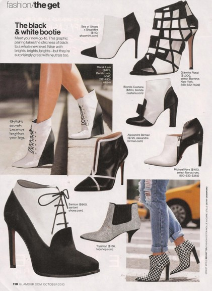 Ankle boots Glamour 1013 black & white REV