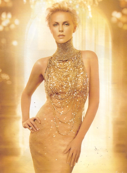 long neck Charlize Theron Dior ad REV