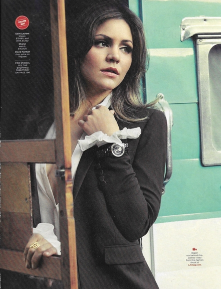 over sleeve 914 LA Magazine ad Chanel watch Saint laurent outfit REV