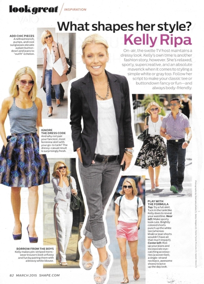 0415 awkward necklace Kelly Ripa Shape 0315 tee over camisole REV