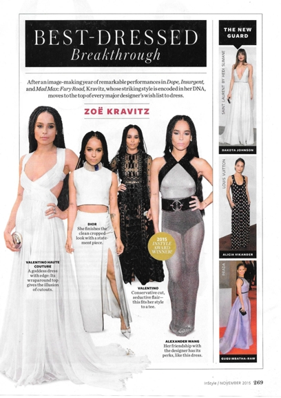 1115 collar InStyle Zoe Kravitz in Dior REV