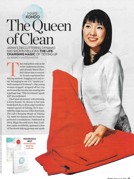 0216 Marie Kondo decluttering 020816 People REV