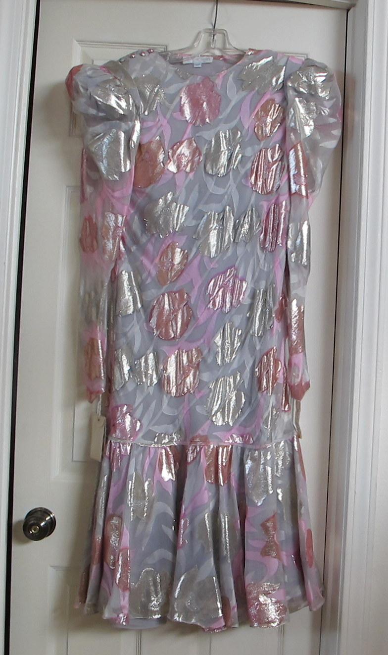 Judy Hornby silver pink dress 1